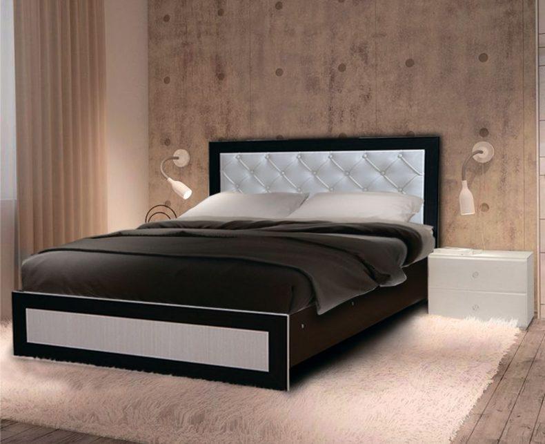 Кровать с мягким изголовьем №2