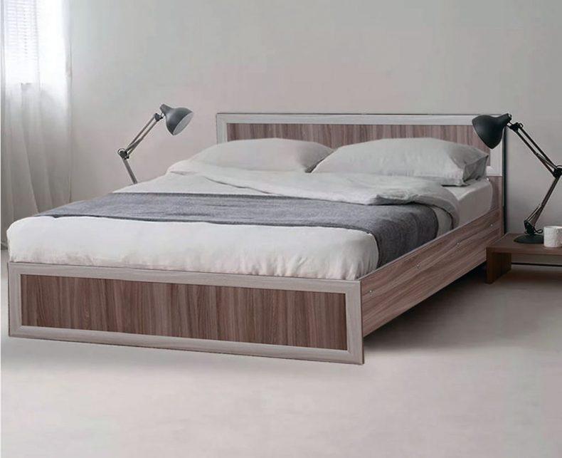 Кровать с обкладкой