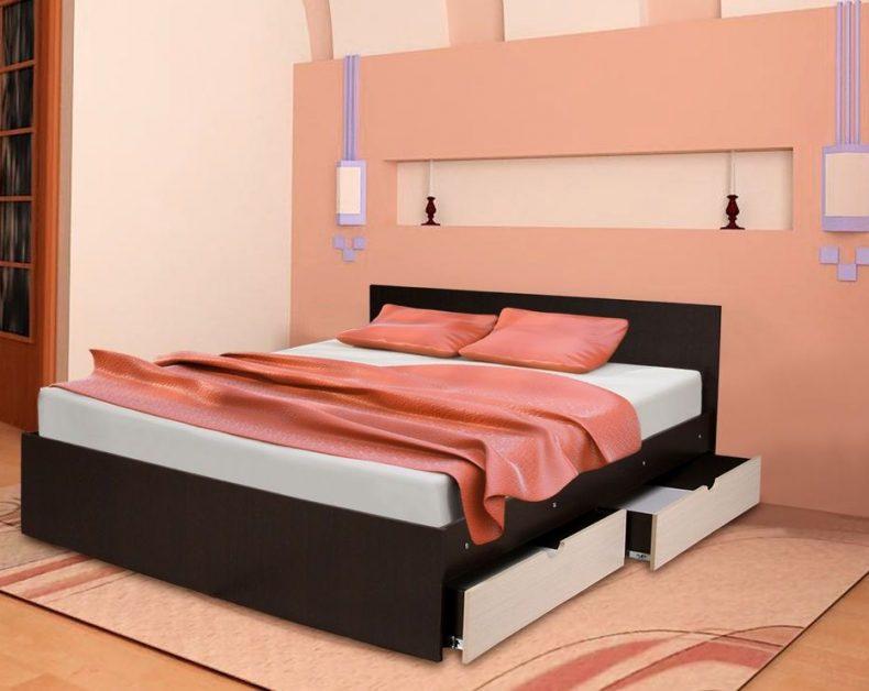 Кровать с ящиками №1