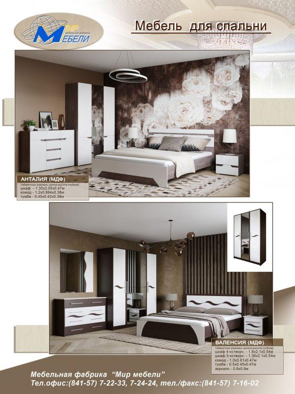 Модульная система спальни № 1